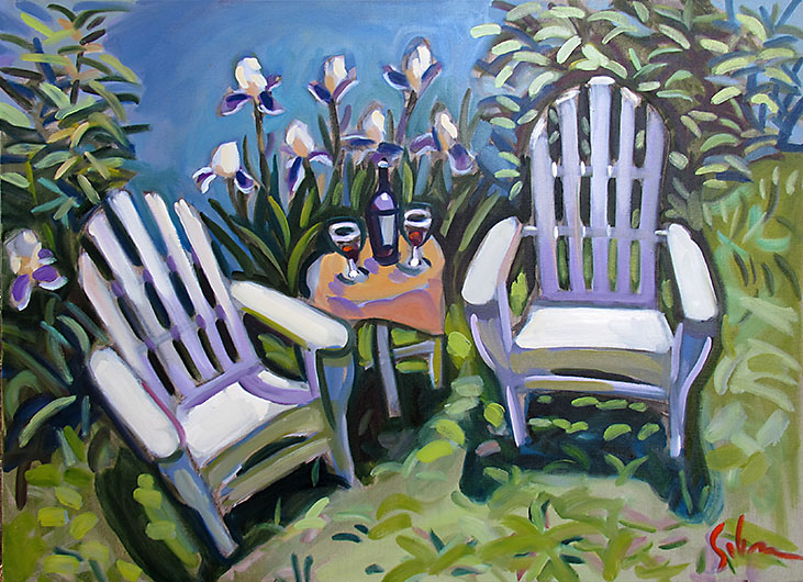Chairs with Irises 2014
