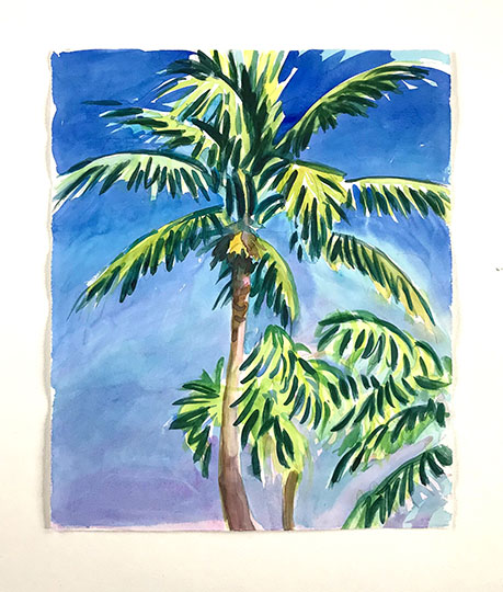 Palm Watercolor 3